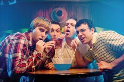 Jay, Neil, Simon and Will in The Inbetweeners Movie.