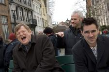 Martin McDonagh directing Brendan Gleason and Colin Farrell in Bruges.