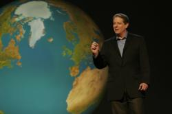 Al Gore lectures an In Inconvenient Truth.