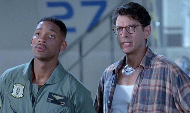 Will Smith and Jeff Goldblum in Independence Day.