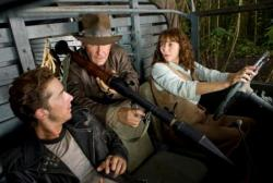 Shia LaBeouf, Harrison Ford and Karen Allen in Indiana Jones and the Kingdom of the Crystal Skull.