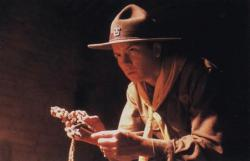 River Phoenix as a young Indiana Jones in The Last Crusade.