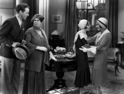 Arthur Lake, Maude Eburne, Gloria Swanson and Barbara Kent in Indiscreet.