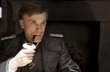 Christoph Waltz as the chillingly evil Colonel Hans Landa.