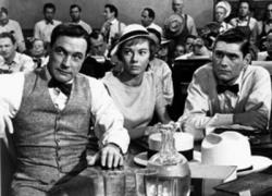 Gene Kelly, Donna Anderson and Dick York in Inherit the Wind.