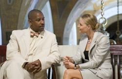Denzel Washington and Jodie Foster in Inside Man.