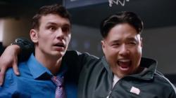 James Franco and Randall Park in The Interview.