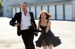 Justin Timberlake and Amanda Seyfried in In Time.