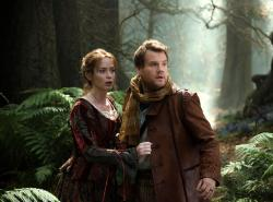 Emily Blunt and James Corden in Into the Woods.