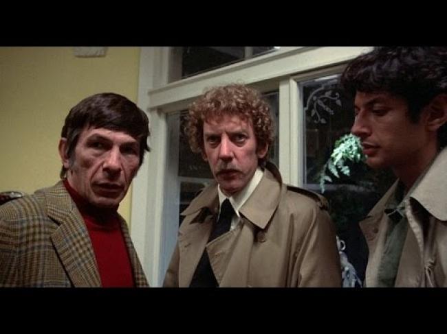 Leonard Nimoy, Donald Sutherland and Jeff Goldblum in Invasion of the Body Snatchers.
