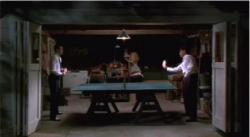 Joaquin Phoenix and Billy Crudup play ping pong in Inventing the Abbotts.