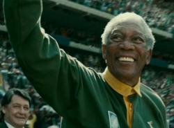 Morgan Freeman is good as Nelson Mandela but the accent comes and goes.