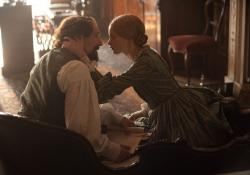 Ralph Fiennes and Felicity Jones in The Invisible Woman.
