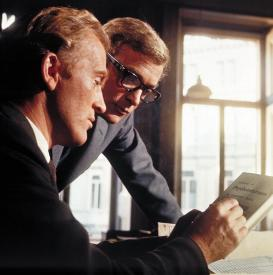 Gordon Jackson and Michael Caine in The Ipcress File