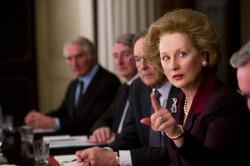 Meryl Streep as the Iron Lady.