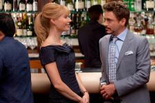 Gwyneth Paltrow and Robert Downey Jr. in Iron Man 2.