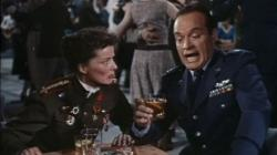 Katharine Hepburn and Bob Hope in The Iron Petticoat.