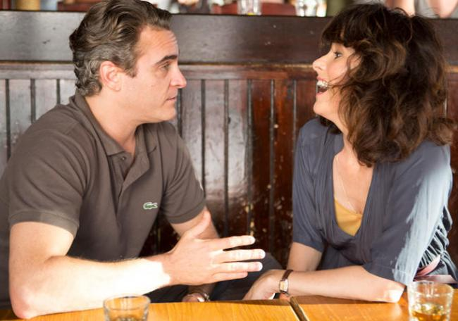 Joaquin Phoenix and Parker Posey in Irrational Man.