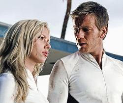 Scarlett Johansson and Ewan McGregor in The Island.