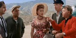 Sid Caesar, Jonathan Winters, Ethel Merman, Milton Berle, and Mickey Rooney in It's a Mad, Mad, Mad, Mad, World.