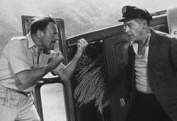 Terry-Thomas and Milton Berle engage in fisticuffs in It's a Mad, Mad, Mad, Mad, World.