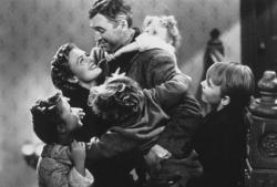 Donna Reed and Jimmy Stewart in It's a Wonderful Life.