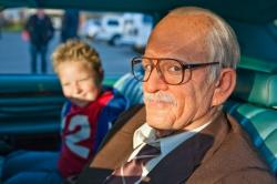 Jackson Nicoll and Johnny Knoxville in Bad Grandpa.