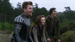 Ewan McGregor, Eleanor Tomlinson and Nicholas Hoult in Jack the Giant Slayer.