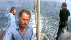Richard Dreyfuss, Robert Shaw and Roy Scheider in Jaws.