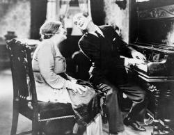 Eugenie Besserer and Al Jolson in The Jazz Singer