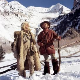 Will Geer and Robert Redford in Jeremiah Johnson.