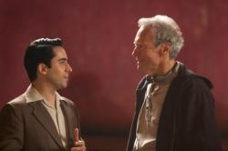 John Lloyd Young and Clint Eastwood filming Jersey Boys