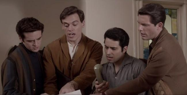 Vincent Piazza, Erich Bergen, John Lloyd Young and Michael Lomenda in Jersey Boys.