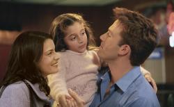 Liv Tyler, the adorable Raquel Castro and Ben Affleck in Jersey Girl