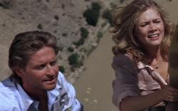 Michael Douglas and Kathleen Turner in Jewel of the Nile.
