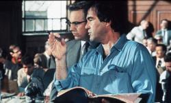 Oliver Stone directs Kevin Costner in JFK.