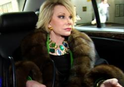 Joan Rivers, her fur is real, her face...not so much.