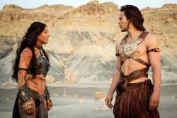 Lynn Collins and Taylor Kitsch in John Carter, or are they on their way to a leather convention?