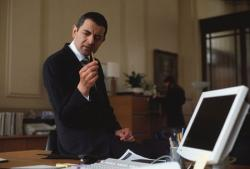 Rowan Atkinson in Johnny English.