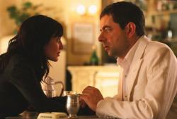 Natalie Imbruglia and Rowan Atkinson in Johnny English.