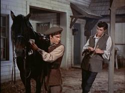 Hal Stalmaster and Richard Beymer in Johnny Tremain
