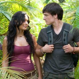 Vanessa Hudgens and Josh Hutcherson in Journey 2: The Mysterious Island