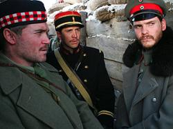 A Scot, French and German soldier bond on Christmas Eve.