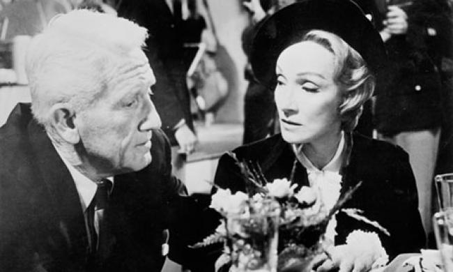 Spencer Tracy and Marlene Dietrich in Judgement at Nuremberg
