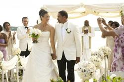 Paula Patton and Laz Alonso in Jumping the Broom.