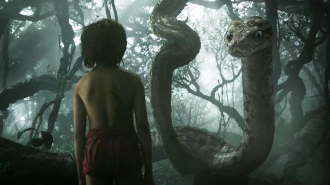 Neel Sethi faces Kaa in The Jungle Book.