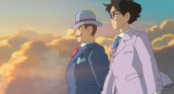 Stanley Tucci and Joseph Gordon-Levitt voice Count Caproni and Jiro Horikoshi in The Wind Rises.