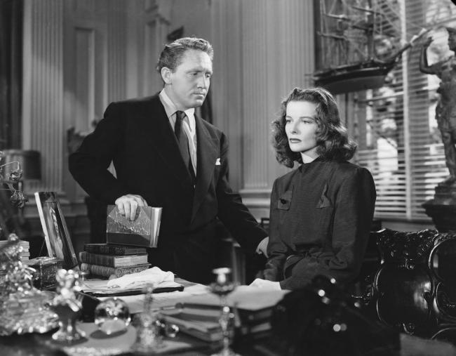 Spencer Tracy and Katharine Hepburn in Keeper of the Flame.