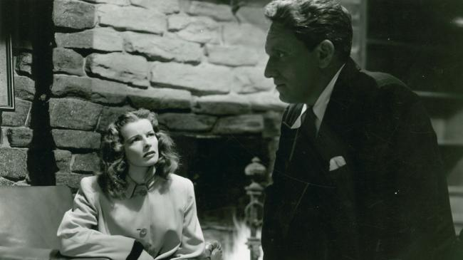 Katharine Hepburn and Spencer Tracy in Keeper of the Flame.