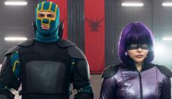 Aaron Taylor-Johnson and Chloe Grace Moretz inKick-Ass 2.